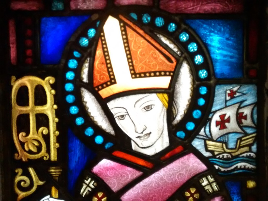stain glass bishop