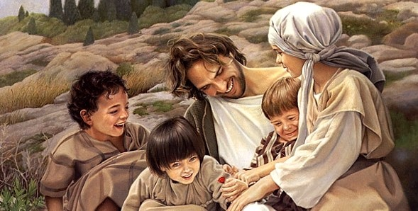 Jesus with a group of Children