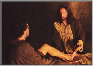 Jesus washes feet of John