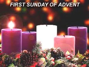 Advent wreath - one candle lit