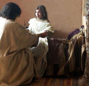 Jesus raises little girl from death