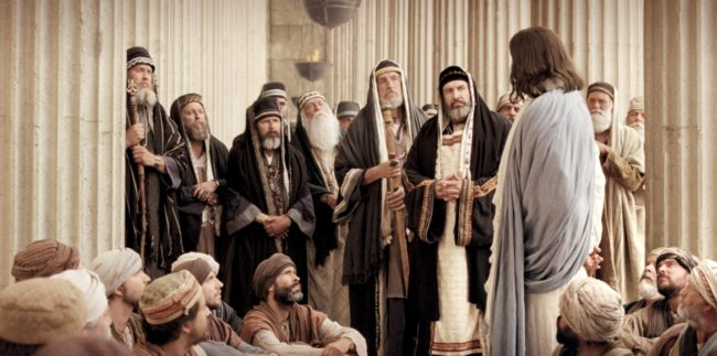 Jesus teaches pharasees