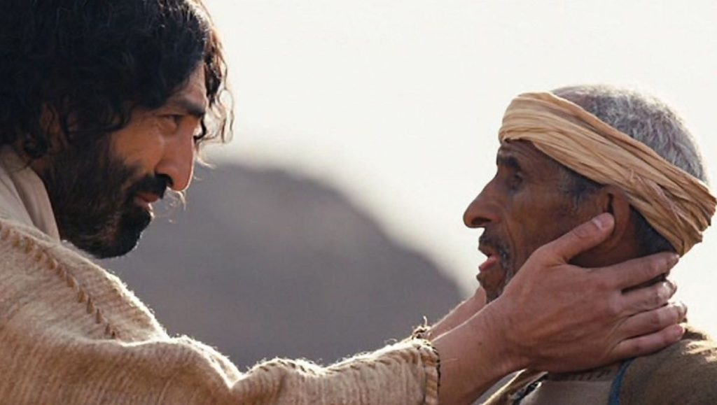 Jesus healing the deaf man