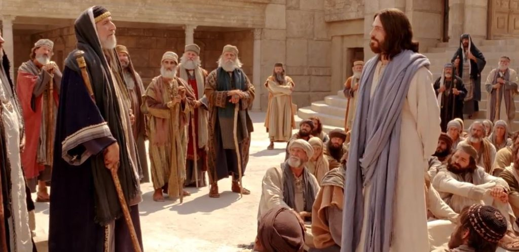 Jesus teaching crowd